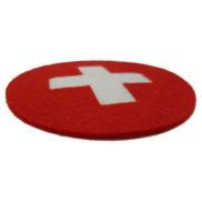 Sous verre croix suisse
