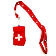 Sangle tour de cou croix suisse