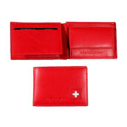 Porte monnaie cuir croix suisse