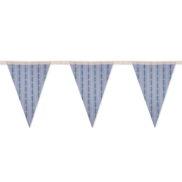 Chaine drapeau motif edelweiss bleu suisse