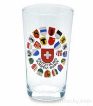 Verre a vin blanc ecusson suisse