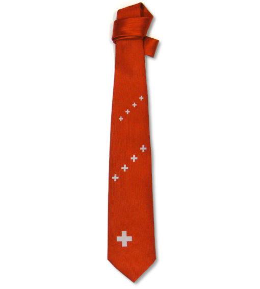 Cravate croix suisse