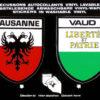 Autocollant de Lausanne et canton de Vaud