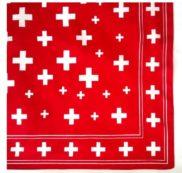 Foulard croix suisse tissus