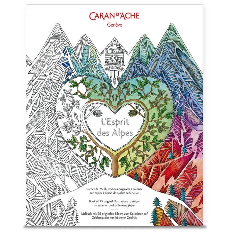 Livre à colorier suisse – Mandala