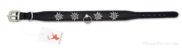 Collier de chien avec edelweiss en métal