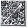 Foulard découpage suisse blanc et noir