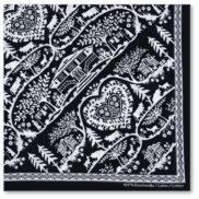 Foulard découpage suisse noir et blanc