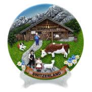 Assiette de décoration suisse