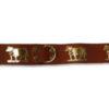 Collier de chien avec vache en métal