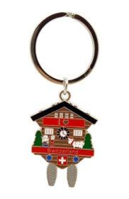 Porte clé suisse coucou chalet