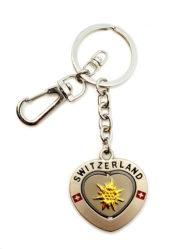 Porte clé suisse coeur