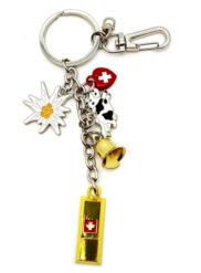Porte clé suisse lingot or