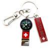 Porte clé suisse sifflet boussole