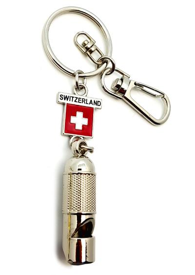 Porte clé suisse sifflet