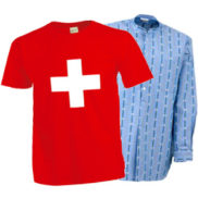T-Shirt suisse & chemise