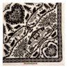 Serviette papier motif découpage noir et blanc