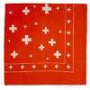 Foulard bandana croix suisse tissus