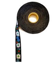 Ruban folklorique edelweiss fleurs