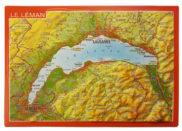 Carte suisse relief 3D montagnes Léman