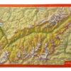 Carte suisse relief 3D montagnes valais