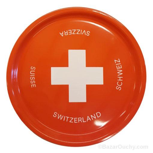 Plateau rouge croix suisse