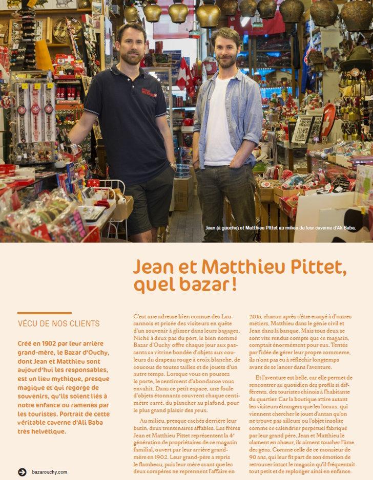 Cadeau souvenir suisse Jean et Matthieu Pittet