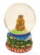 Boule a neige marmotte suisse