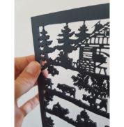 Découpage suisse en bois décoration