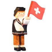 Figurine suisse en bois