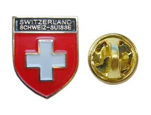 Pin's drapeau croix suisse