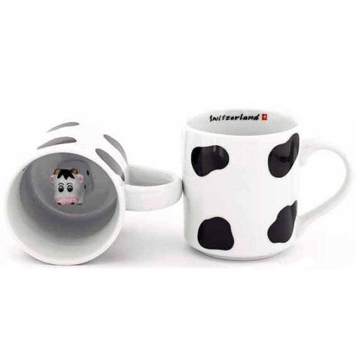 Tasse avec vache au fond