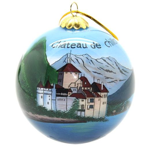 Boule de Noel Suisse Chateau Chillon