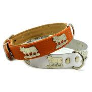 collier pour chien avec vache dorée