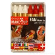 Maquillage suisse rouge blanc