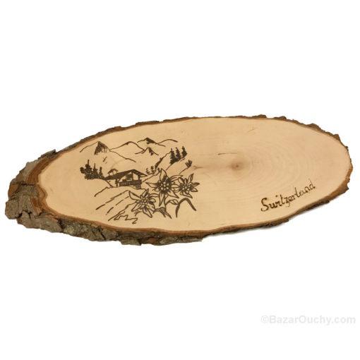 Planche à fromage découper suisse en bois