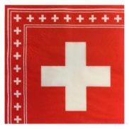 Serviette croix suisse