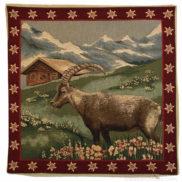 Coussin suisse traditionnel découpage