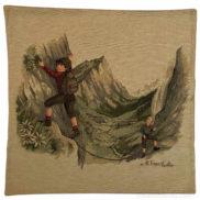 Coussin suisse traditionnel enfant montagne