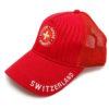 Caquette rouge croix suisse