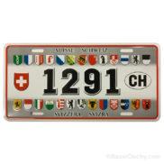 Plaque métal suisse