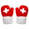 Moufle petits gant enfant croix suisse