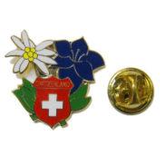 Pin's edelweiss gentiane