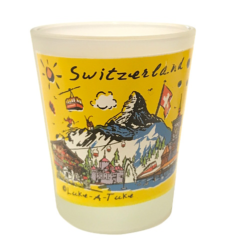 Verre à liqueur suisse