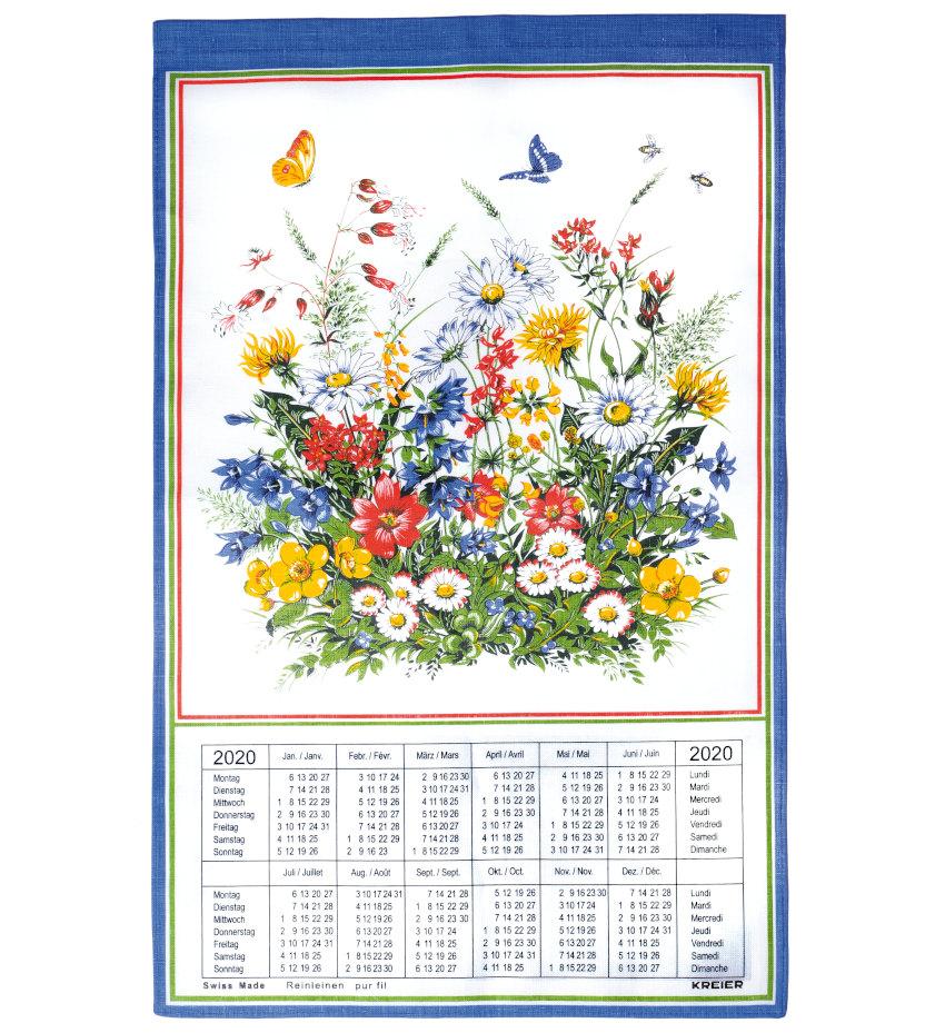 Calendario Svizzero.Calendrier Suisse En Tissus 2020