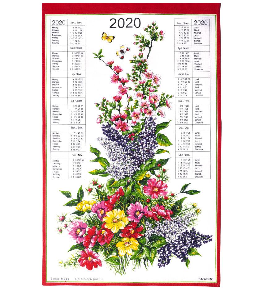 Calendrier En Tissu.Calendrier Suisse En Tissus 2020