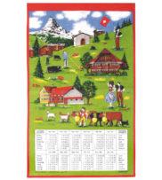 Calendrier Suisse tissu Kreier Kraier