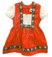 Robe traditionnel suisse folklorique
