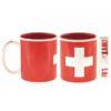 Tasse croix suisse rouge