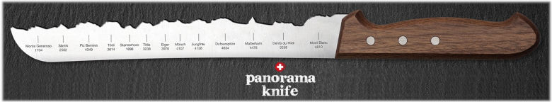 Panorama Knife - Couteau forme montagne silhouette
